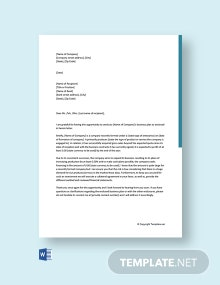Free Business Plan Cover Letter to Bank