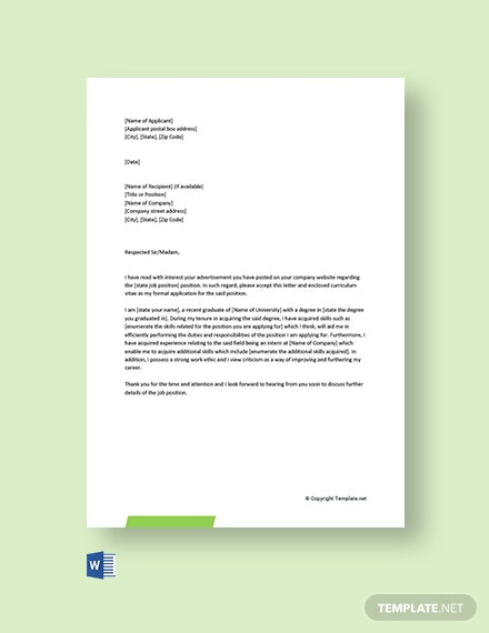 128+ FREE Cover Letter Templates - Word | Google Docs ...