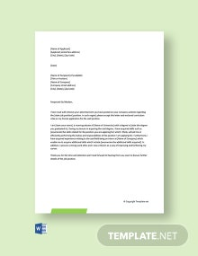 Free Cover Letter for Fresher