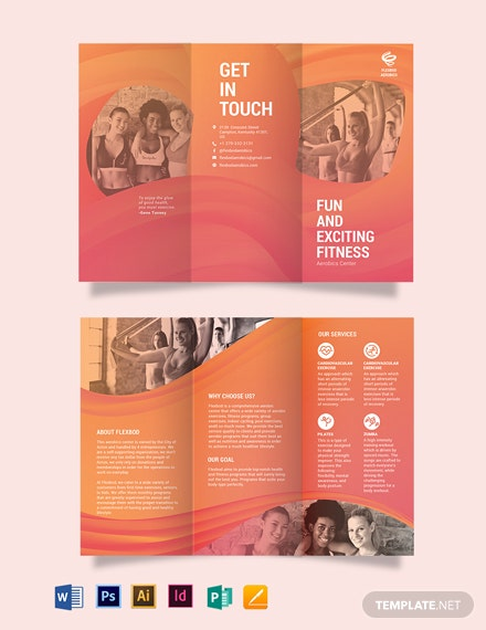 Aerobics Center Tri-Fold Brochure Template