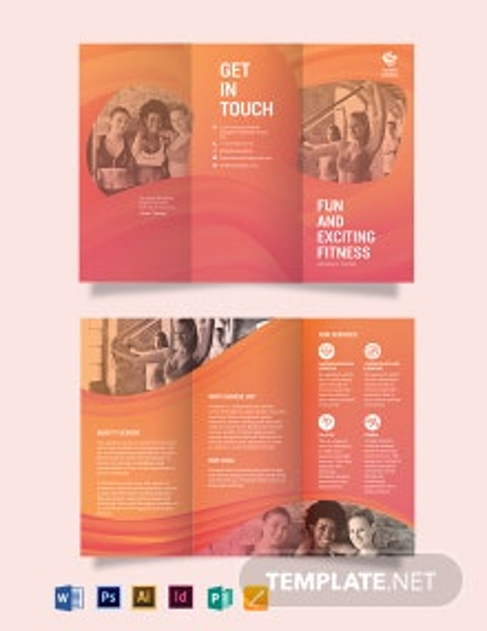 Aerobics Center Tri-Fold Brochure Template