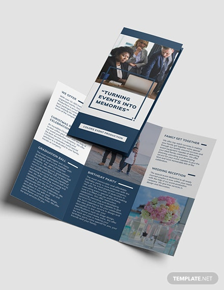 Event Planning Business Tri-Fold Brochure Template