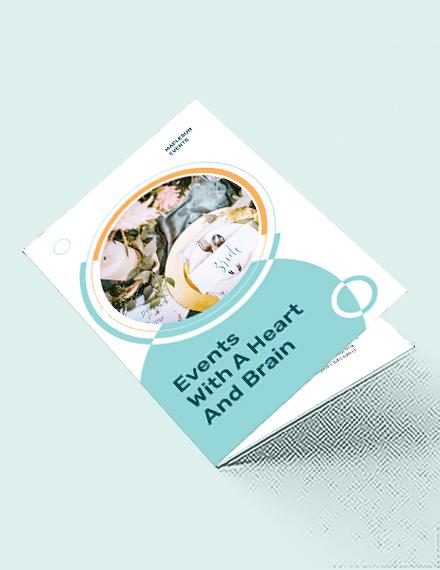 Event Planner Bi-Fold Brochure Template