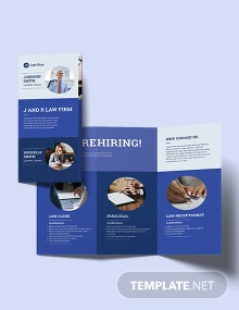 Lawyer & Law Firm Tri-Fold Brochure Template