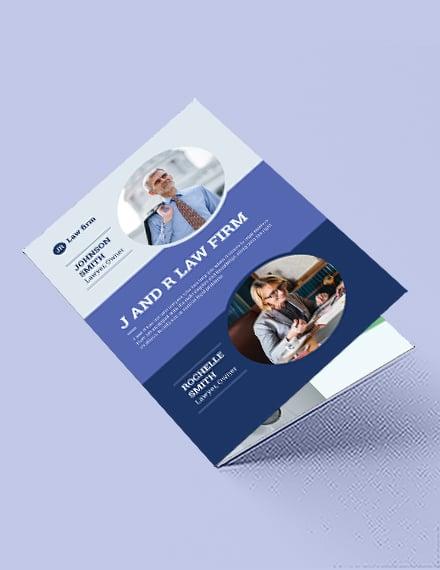 Lawyer & Law Firm Bi-Fold Brochure Template