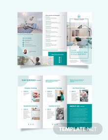 Cleaning Service Company Tri-Fold Brochure Template