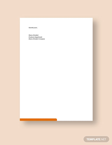 Customer Service Recommendation Letter Template