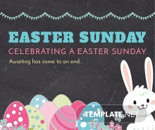 Free Printable Easter Sunday Flyer Template