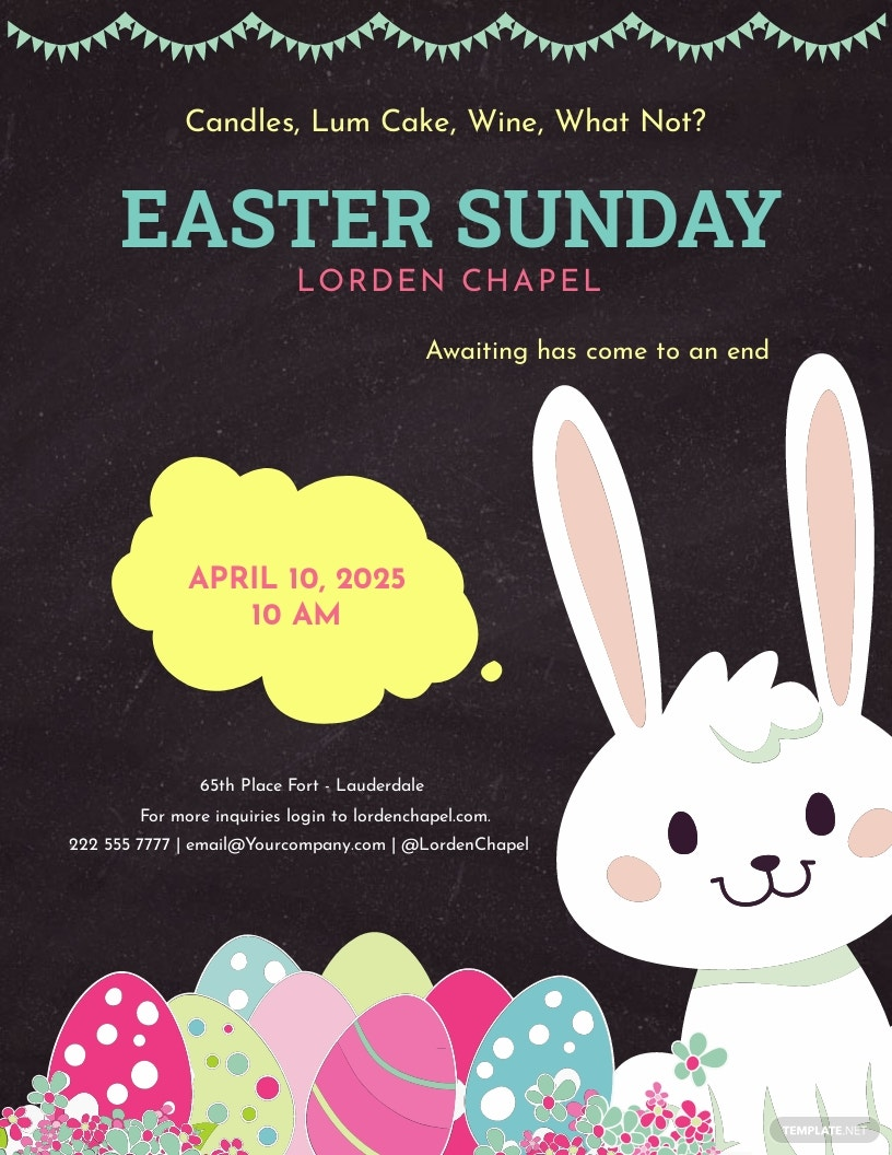Printable Easter Sunday Flyer Template