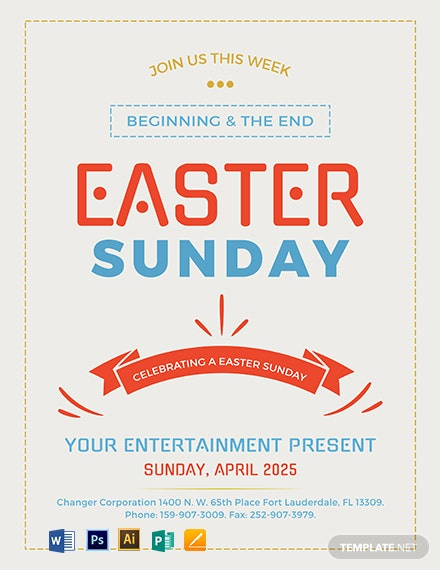 Free Easter Sunday Celebration Template