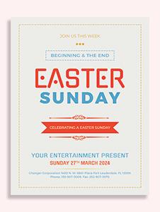 Free Easter Sunday Celebration Template