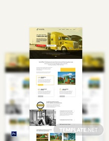Moving Company PSD Landing Page Template