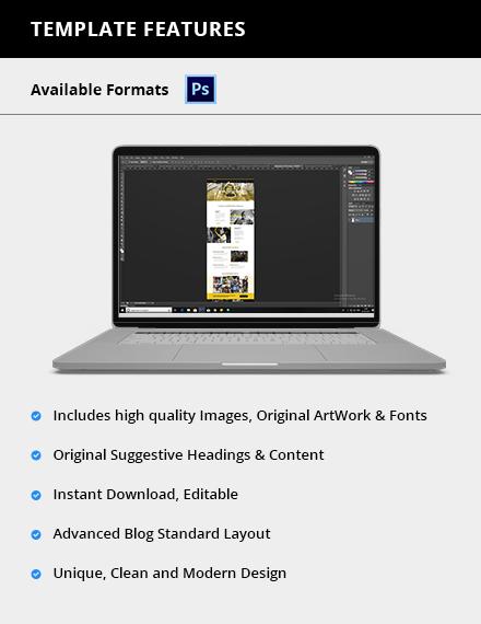 Editable NGO PSD Landing page