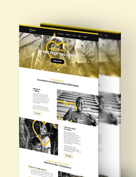 NGO PSD Landing page Download