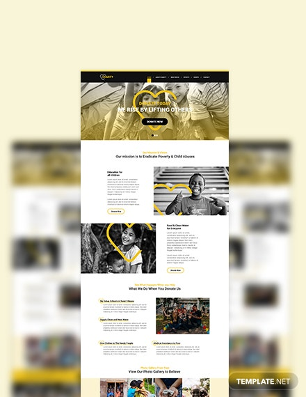 Sample NGO PSD Landing page
