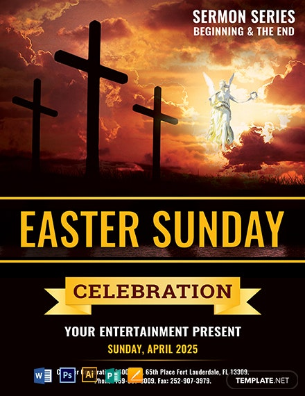 Free Easter Sunday Church Template
