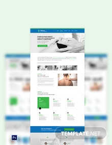 Physiotherapy PSD Landing Page Template