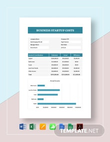 Business Start Up Costs Template