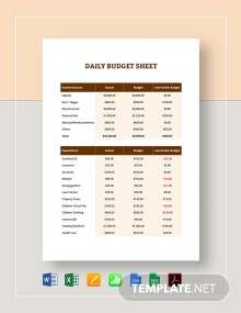 Daily Budget Template