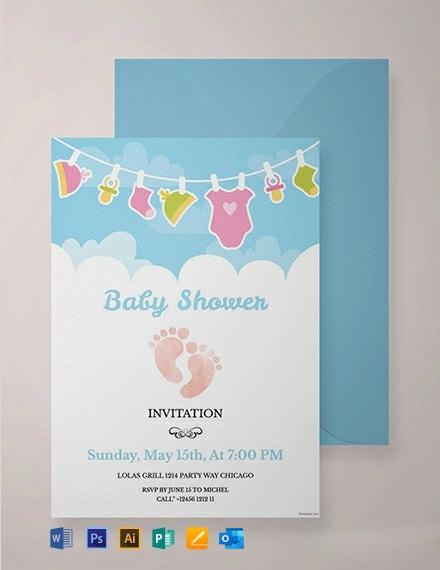 Free Editable Baby Shower Invitation Template