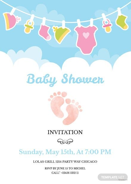 Free Editable Baby Shower Invitation Template