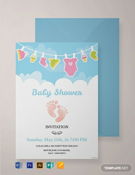 21 Free Baby Invitation Templates Download Ready Made Samples