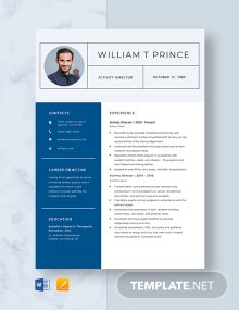 Activity Director Resume Template