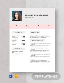 Agent Assistant Resume Template