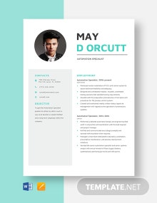 Automation Specialist Resume Template