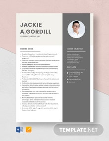 Bookkeeper Assistant Resume Template