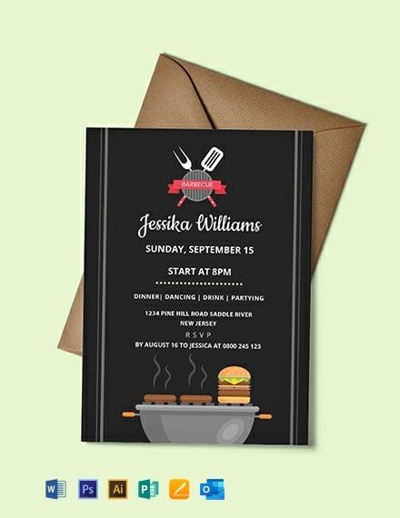 Free Barbecue Party Invitation Template
