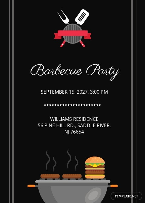 Barbecue Party Invitation Template