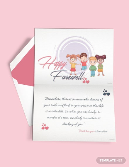 free happy farewell invitation card template
