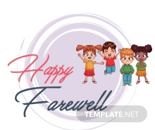 Free Happy Farewell Invitation Card Template