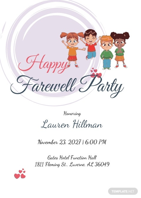 Happy Farewell Invitation Card Template
