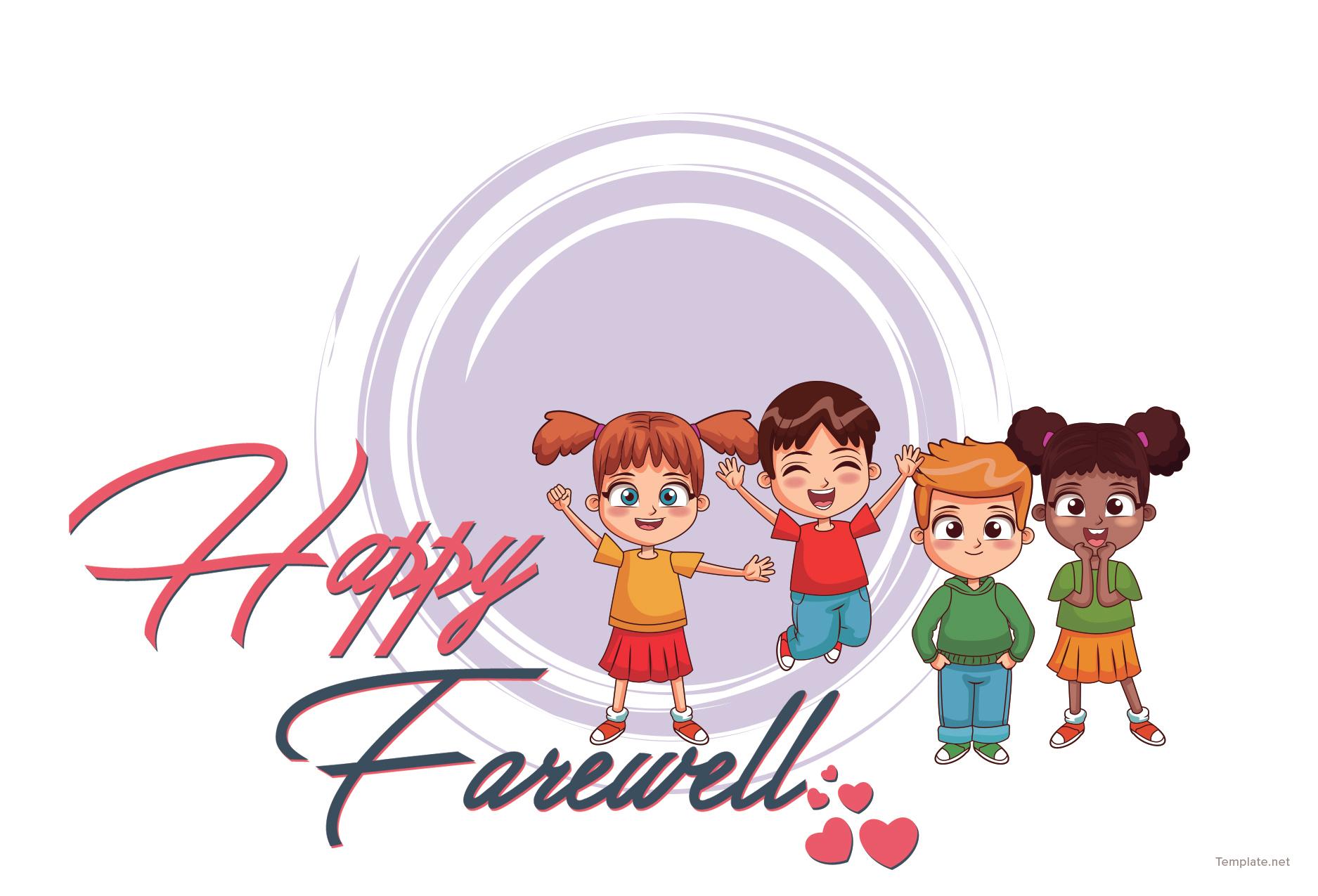 Free Happy Farewell Invitation Card Template in Adobe ...