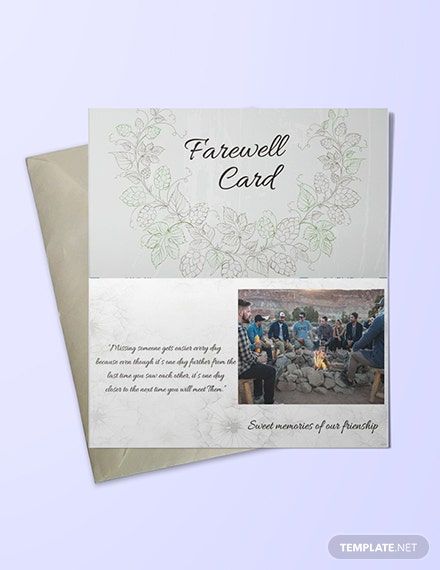 free farewell invitation card template
