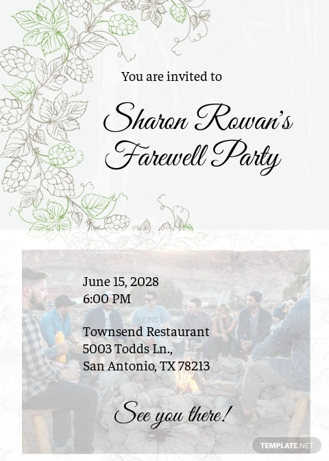 Free Farewell Invitation Card Template.jpe
