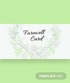 Free Farewell Invitation Card Template