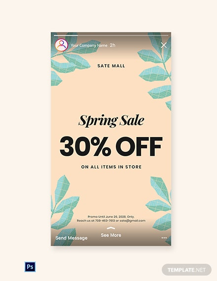 Free 30% Off Holiday Sale Instagram Story Template