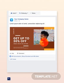 Free New Year Sale Facebook Post Template