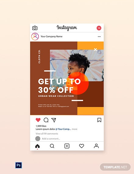 Free New Year Sale Instagram Post Template