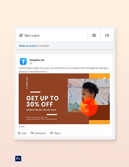 Free New Year Sale LinkedIn Blog Post Template