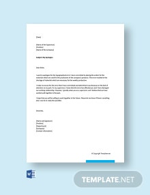 Free Apology Letter for Mistake in Work
