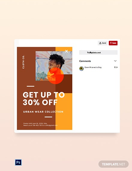 Free New Year Sale Pinterest Pin Template