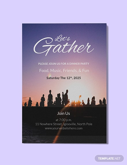 Free Let's Gather Invitation Template