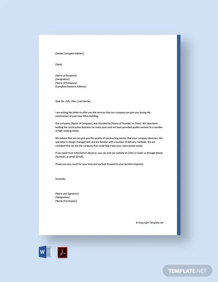 Business Proposal Letter for Services Template