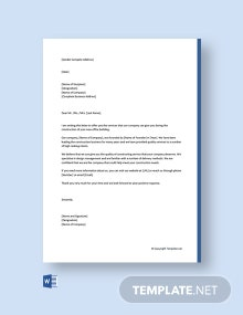 Free Business Proposal Letter for Services