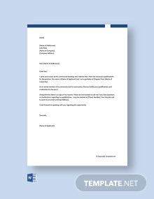 Free Commercial Banking Cover Letter