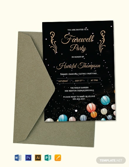 Free Farewell Party Invitation Template